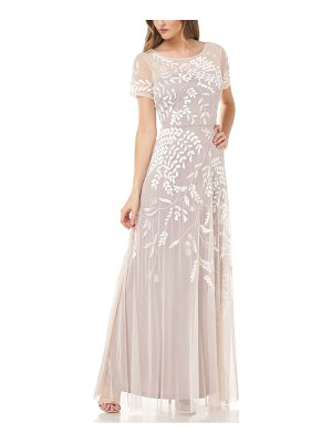 JS Collections beaded a-line gown