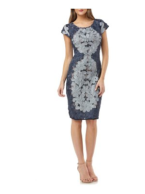 JS Collections contrast soutache sheath dress
