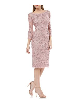 JS Collections soutache chiffon sheath dress