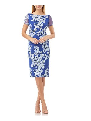 JS Collections soutache cocktail sheath dress