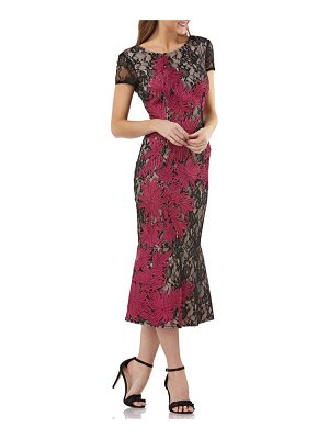 JS Collections soutache embroidered lace midi dress
