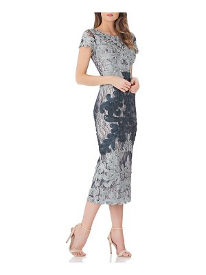 JS Collections soutache lace midi dress