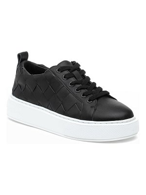 JSLIDES Dede Woven Leather Low-Top Sneakers