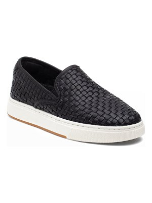 JSLIDES Justine Woven Leather Slip-On Sneakers
