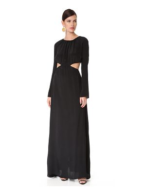 Juan Carlos Obando gathered long sleeve gown