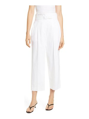 Judith & Charles abstract belted crop pants