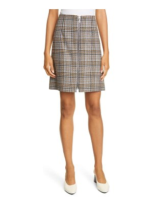 Judith & Charles modica check plaid skirt