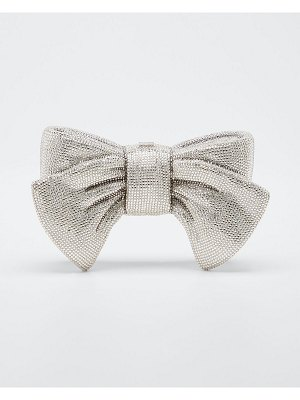 Judith Leiber Couture Crystal Bow Clutch Bag