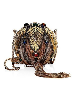 Judith Leiber Couture sphere pax crystal clutch