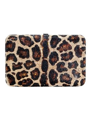 Judith Leiber Couture crystal-embellished leopard clutch