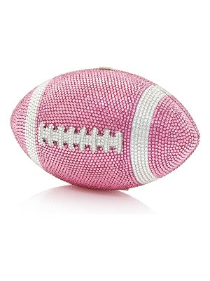 Judith Leiber Couture Crystal Football Minaudiere Bag
