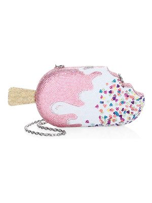 Judith Leiber Couture popsicle strawberry drip crystal clutch