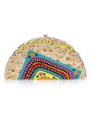 Judith Leiber Couture Crystal Taco Clutch Minaudiere