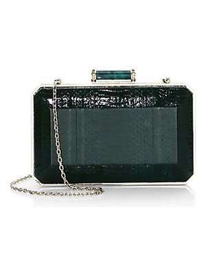 Judith Leiber Couture elaphe convertible clutch