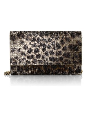 Judith Leiber Couture fizzoni leopard crystal clutch