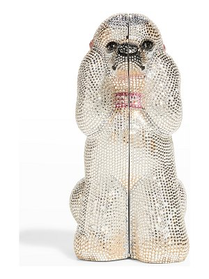 Judith Leiber Couture French Poodle Crystal Clutch Bag