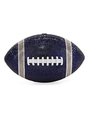Judith Leiber Couture Game Ball Football Crystal Clutch Bag