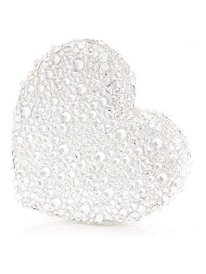 Judith Leiber Couture Heart Crystal Clutch Bag