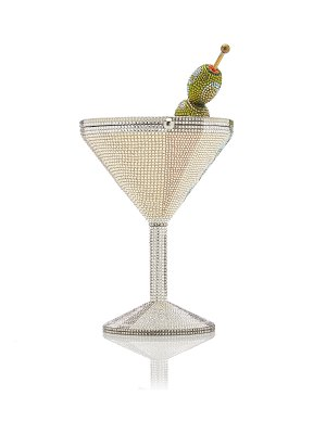 Judith Leiber Couture martini crystal clutch