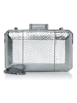 Judith Leiber Couture metallic snake-embossed clutch
