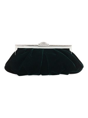 Judith Leiber Couture Natalie Velvet Evening Clutch Bag