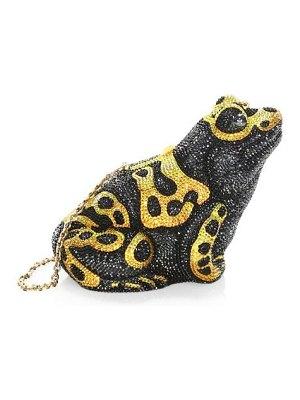 Judith Leiber Couture frog crystal clutch