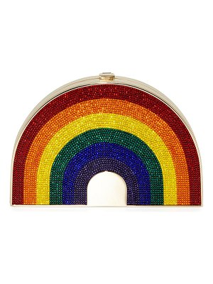 Judith Leiber Couture Rainbow-Shaped Crystal Clutch Bag
