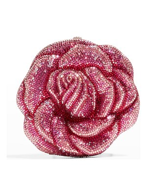 Judith Leiber Couture Rose Josephine Crystal Clutch Bag