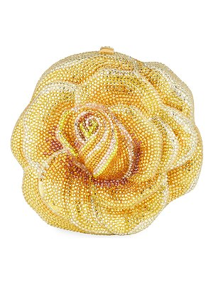 Judith Leiber Couture Rose Sunflare Austrian Crystal Clutch Bag