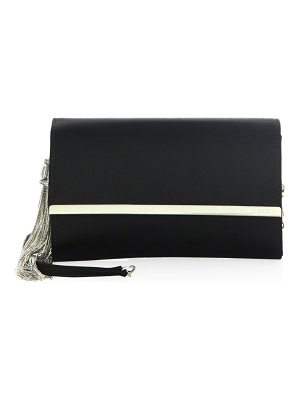 Judith Leiber Couture satin chain clutch