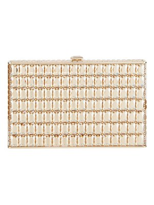 Judith Leiber Couture Sideways Cut Crystal Clutch Bag