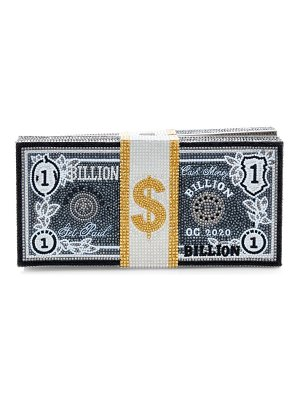 Judith Leiber Couture stack of cash crystal clutch
