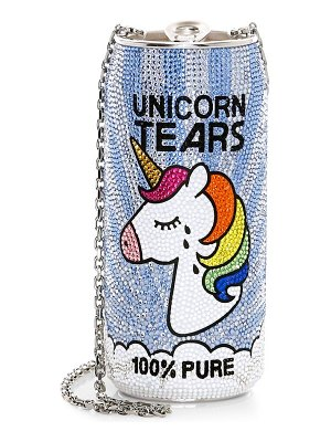 Judith Leiber Couture unicorn tears beverage can crystal clutch