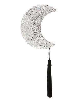 Judith Leiber crescent moon crystal embellished clutch