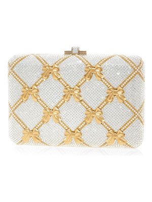 Judith Leiber slim slide bow crystal clutch