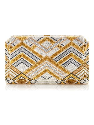 Judith Leiber swanson beaded clutch