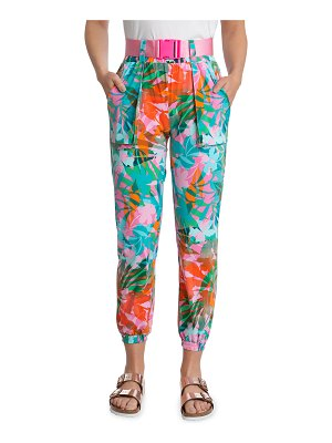 Juicy Couture Belted Printed Jogger Pants