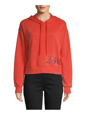 Juicy Couture Graphic Cotton-Blend Drawstring Hoodie