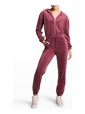Juicy Couture Embellished Velour Jumpsuit