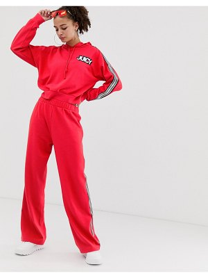Juicy Couture juicy by  wide leg sweatpants with ankle logo & taping two-piece-red