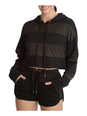 Juicy Couture Mesh Panel Pullover Hoodie