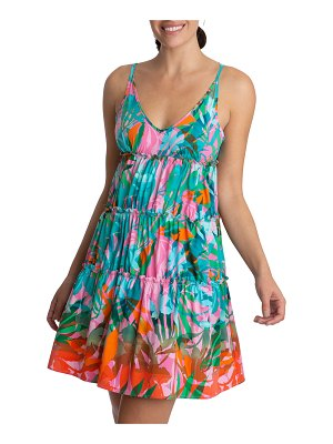 Juicy Couture Tropical Tiered Mini Dress