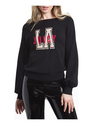Juicy Couture Varsity Jacquard Pullover Top