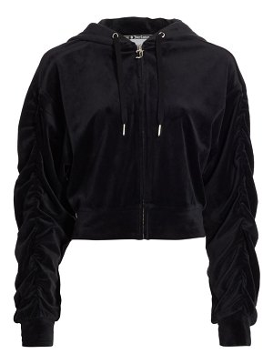 Juicy Couture velour shirred hoodie