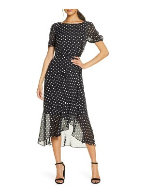 Julia Jordan dot print chiffon dress