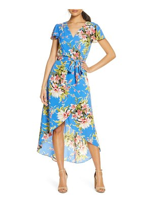 Julia Jordan faux wrap floral print high/low dress