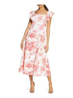 Julia Jordan floral square neck midi dress