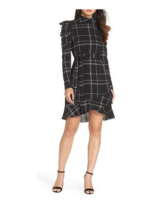 Julia Jordan long sleeve crepe dress