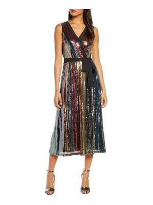 Julia Jordan multicolored sequin midi dress