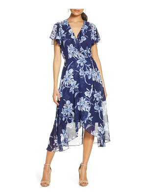Julia Jordan ruffle floral wrap dress